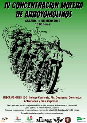 Arroyomolinos se va de ruta el 11 de mayo con la IV Concentración Motera