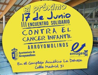 Arroyomolinos organiza el 17 de junio el III Encuentro Solidario Contra el Cáncer Infantil
