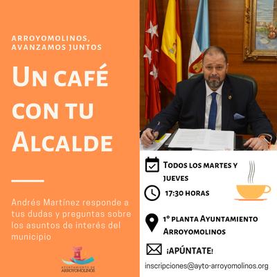 """Desde el 5 de febrero tómate """"Un café con tu Alcalde"""""""