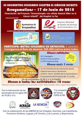 El III Encuentro Solidario Contra el Cáncer Infantil de Arroyomolinos fue motivo de actualidad en el programa Hoy por Hoy Madrid Oeste
