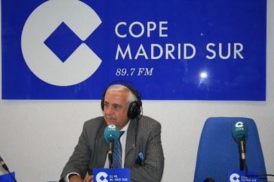 Entrevista al Alcalde de Arroyomolinos, Carlos Ruipérez, en Cope Madrid Sur sobre la situación de las torres de Alta Tensión.