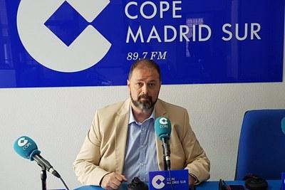 Entrevista al Alcalde de Arroyomolinos, Andrés Martínez, en Cope Madrid Sur para tratar la actualidad del curso político y diferentes proyectos de presente y futuro de la ciudad