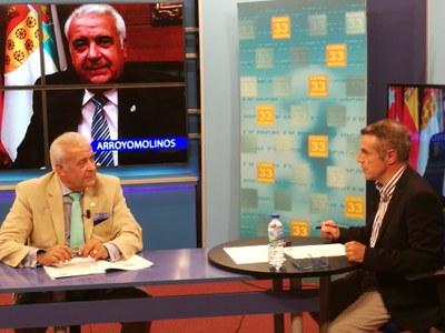 Entrevista al Alcalde de Arroyomolinos, Carlos Ruipérez, en Canal 33 sobre la actualidad y los proyectos de presente y futuro de Arroyomolinos