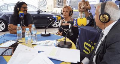 Hoy por Hoy Madrid Oeste entrevistó al Pregonero de las Fiestas José Andrëa, una representante de las Peñas, Anabel Serrano y al Alcalde de Arroyomolinos, Carlos Ruipérez