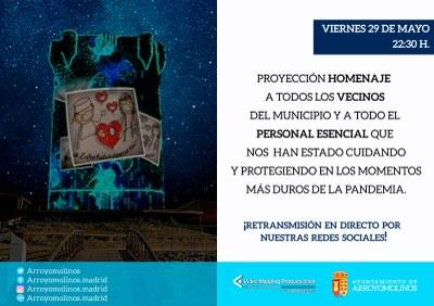 Arroyomolinos rinde homenaje a los servicios esenciales que siguen luchando en primera línea contra la pandemia
