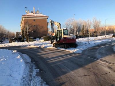 El objetivo ha sido permitir la movilidad y hacer transitable la mayor parte del municipio.