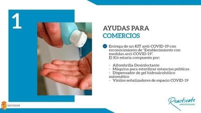 El Ayuntamiento de Arroyomolinos entregará a todos los comercios y locales del municipio un kit frente al COVID-19, para proteger a clientes y trabajadores
