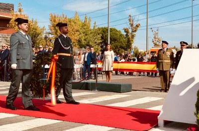 Arroyomolinos, sus vecinos y sus representantes políticos, han festejado esta mañana el DÍA DE LA FIESTA NACIONAL y el DÍA DE LA VIRGEN DEL PILAR, Patrona de la Guardia Civil.
