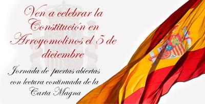 Los vecinos de Arroyomolinos podrán participar en la lectura continuada de la Constitución Española