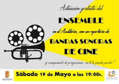 """El cine y la Banda de Música """"A Tempo"""" de Arroyomolinos se dan la mano en un espectáculo innovador el sábado 19 de mayo"""