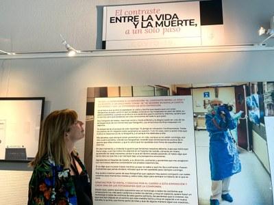 La artista recoge, a través de 85 piezas, su experiencia en el Hospital de Getafe.  Hasta el 26 de septiembre en horario de lunes a viernes de 09:00 a 21:00 y sábados de 09:00 a 14:00 horas.