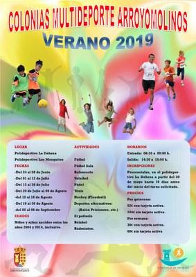 Ya está abierto el plazo de inscripción para las Colonias de Verano Multideporte en Arroyomolinos. Se ofertan 440 plazas para cada uno de los periodos ofertados.