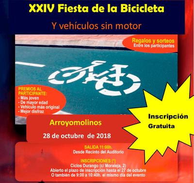 Arroyomolinos organizará la XXIV Fiesta de la Bicicleta y vehículos sin motor