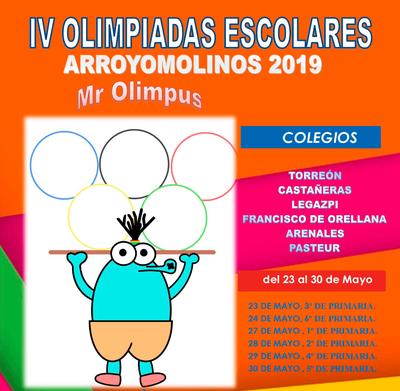 Se celebrarán entre el 23 y el 30 de mayo en la Ciudad Deportiva La Dehesa.  Participarán más de 3.000 alumnos de primaria de seis centros educativos de Arroyomolinos.