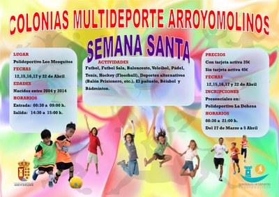 Arroyomolinos organiza las III Colonias Multideporte de Semana Santa desde el 12 de abril