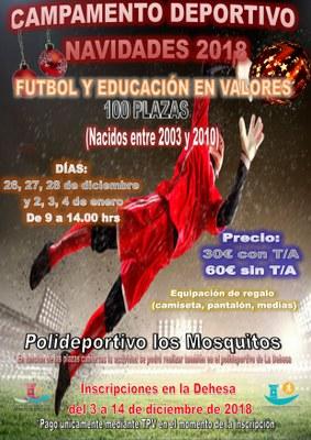 Arroyomolinos pone en marcha los Campamentos Deportivos de la Navidad 2018