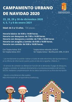Campamento urbano de Navidad 2020