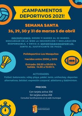 Campamentos deportivos Semana Santa 2021
