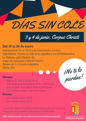 Días sin cole Corpus Christi