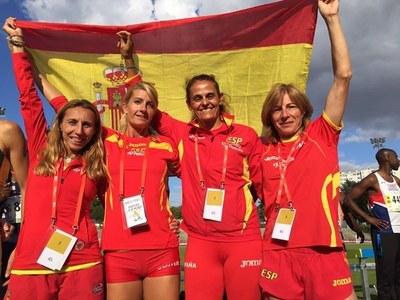 Ángeles Guerra consigue dos bronces y dos récord de España de veteranos