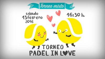 Participa el próximo sábado en el torneo mixto Pádel in Love de Las Matillas