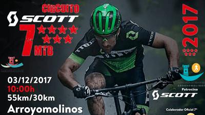 Arroyomolinos volverá a ser una fiesta del ciclismo este fin de semana. El domingo 3 de diciembre y desde las 10:00 se recorrerán 50 Km en el entorno de nuestro municipio para finalizar el Circuito SCOTT 7 Estrellas.