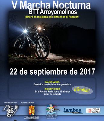 La salida será a las 22:00 de la noche del próximo 22 de septiembre desde el Recinto Ferial de Arroyomolinos. Al finalizar la prueba disfrutaremos de chocolatada con bizcochos.