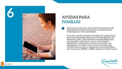 El Ayuntamiento de Arroyomolinos habilita un programa de préstamo de dispositivos informáticos para alumnos de Primaria, ESO y Bachillerato