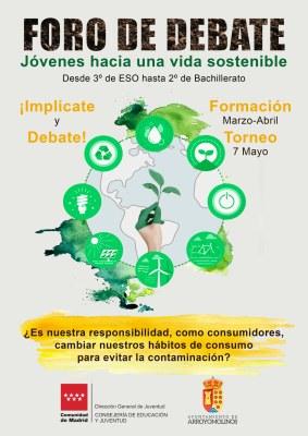El Ayuntamiento de Arroyomolinos programa un foro de debate online entre alumnos de 3º de la ESO a 2º de Bachillerato