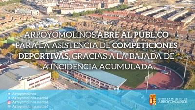 El Ayuntamiento permite la asistencia de público para las competiciones deportivas a partir de este fin de semana