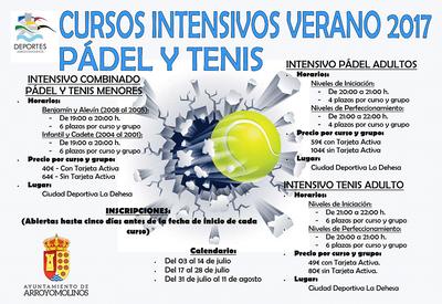 Nuevos cursos intensivos de pádel y tenis