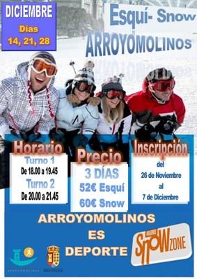 Diciembre para disfrutar del esquí y el snow en Arroyomolinos