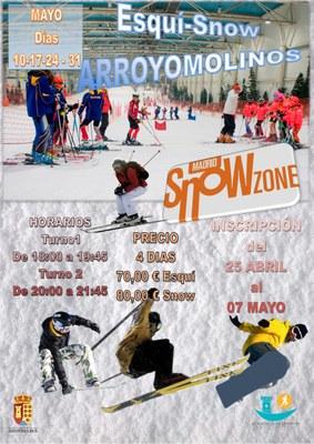 El 25 de abril se abre el plazo de inscripción de los cursos de esquí y snow en Madrid Snow Zone para vecinos de Arroyomolinos.