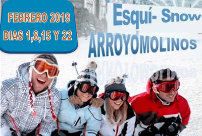 El 17 de enero se abre el plazo de inscripción de los cursos de esquí y snow en Madrid Snow Zone para vecinos de Arroyomolinos.
