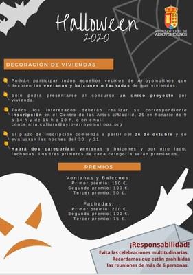 """Concurso de decoración e iluminación de viviendas y fachadas """"HALLOWEEN"""" Arroyomolinos 2020"""