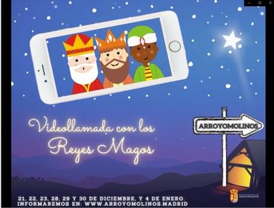 Los Reyes Magos atenderán a los niños de Arroyomolinos mediante videoconferencia