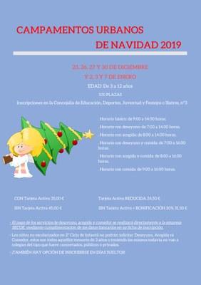 Campamentos Urbanos de Navidad 2019