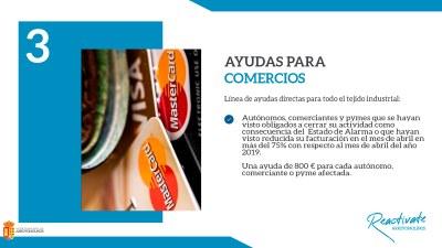 El Ayuntamiento de Arroyomolinos habilita una ayuda de 800 euros a autónomos, comercios y pymes afectados por la crisis sanitaria