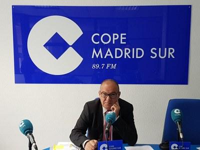 Entrevista a José Vicente Gil, Concejal de Hacienda de Arroyomolinos, en Cope Madrid Sur, 89.7 FM y 100.5 FM, sobre la aprobación de los Presupuestos Municipales