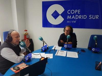 Entrevista al Concejal de Hacienda y Empleo, José Vicente Gil, en Cope Madrid Sur sobre impuestos y orientación formativa.