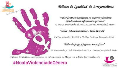 Arroyomolinos programa talleres contra la Violencia de Género para el mes de noviembre