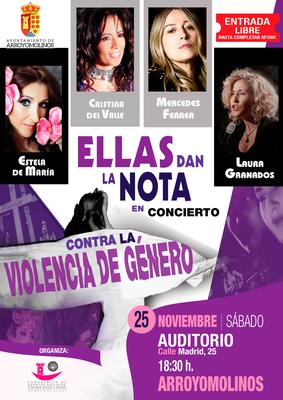 En un concierto con Cristina del Valle, Mercedes Ferrer, Laura Granados y Estela de María a las 18:30 de la tarde y con entrada gratuita hasta completar aforo.