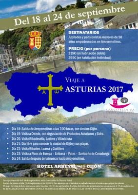 Comienza la inscripción para el viaje de la Tercera Edad a Asturias