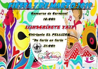 El 7 de marzo el carnaval se disfruta en el Centro de Mayores de Arroyomolinos