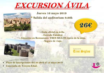 Los mayores arroyomolinenses visitan Ávila el 16 de mayo