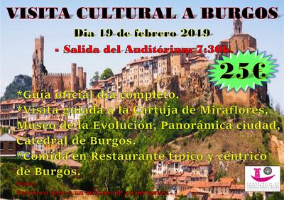 Nos vamos de visita cultural a Burgos el 19 de febrero