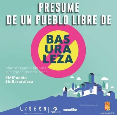 Arroyomolinos se suma a la campaña #MiPuebloSinBasuraleza, para concienciar sobre la acumulación de residuos y de la necesidad de proteger los espacios naturales