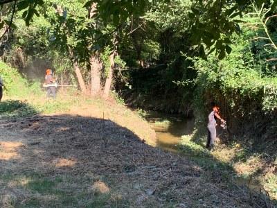 El Ayuntamiento de Arroyomolinos inicia los trabajos de limpieza y desbroce de los cauces de los dos arroyos que atraviesan el casco urbano