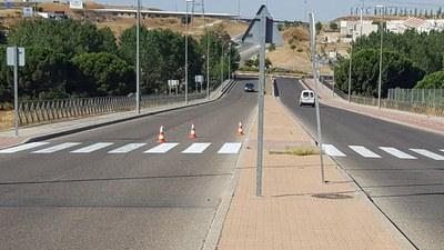 Nuevas tareas de mantenimiento en la señalización horizontal del municipio