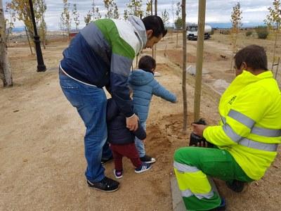 """Arroyomolinos ha homenajeado a 381 nacidos y empadronados en 2017 con la campaña """"Un niño, un árbol"""""""